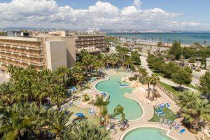 Vistas del hotel temático palas pineda, Tarragona